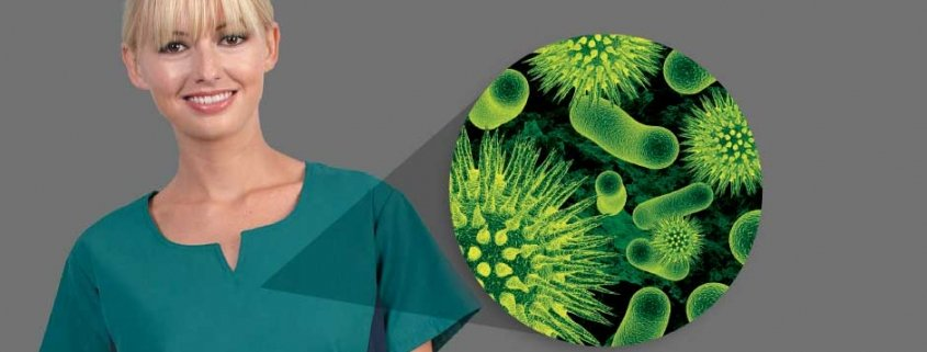 keep hospital uniforms germ-free