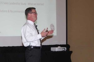Ty Swain presenting Change Leadership at Conference 2015