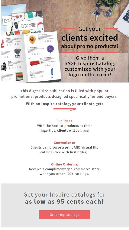 SAGE catalogs wit hyour brand