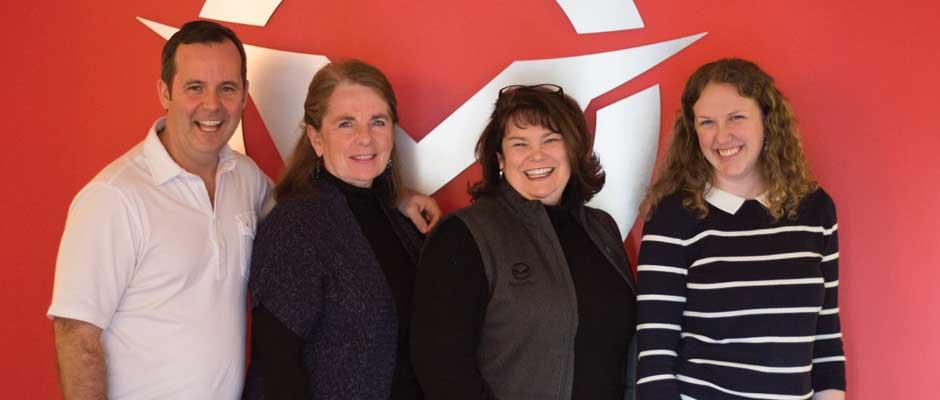 The MarkaBull Team: Rob Sneed, Kay Scruggs, Beth Sneed and Emily Koballa