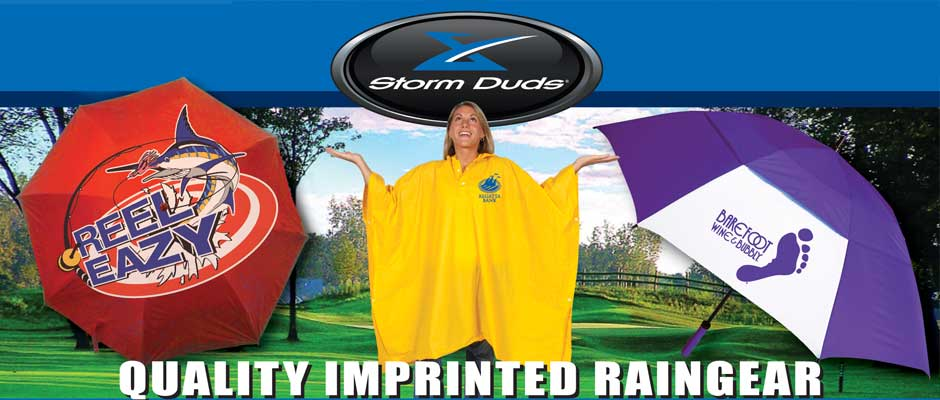wet weather branding, imprinted raingear